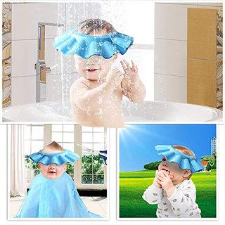 Buy Baby Kid Children Soft Shampoo Bath Shower Cap Hat Eva Foam Adjustable 37 41 Cm Blue Online 249 From Shopclues