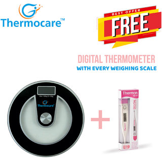 Buy Thermocare Round Shape Thick Glass Weighing Machine ...