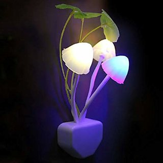 S4D Color Changing LED Mushroom Night Light - White