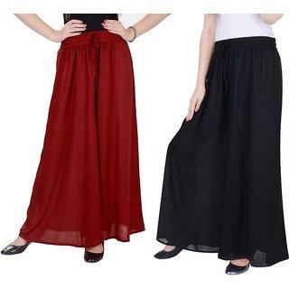 Women Fashion maroon  black  palazzo pant or Trousers