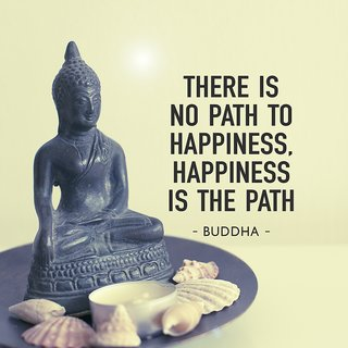 there is no path to happinessWall sticker paper poster |Sticker Paper Poster, 12x18 Inch