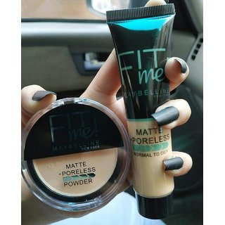 fit me foundation combo compact and foundation by tavish