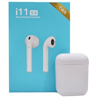 i11s bluetooth ear buds with mic and sensor tecnology.