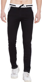 Cliths Men's Cotton Trackpant Joggers/ Black, White Cotton Lower For Men