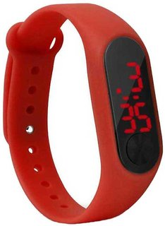 Swadesistuff New Stylish Sillicon Red Digital Watch for Boys  Girls