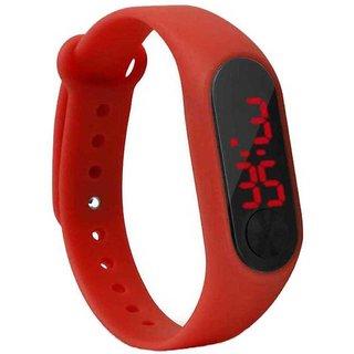 Swadesistuff New Stylish Sillicon Red Digital Watch for Boys  Girls