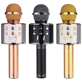 WS-858 Wireless Bluetooth Microphone for All Android and iOS Devices Recording Condenser Handheld Audio Recording