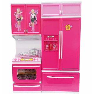 Modern Kitchen Set Toys for Kids 2- Layer Kitchen Set (Multi Color)