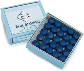 LGB Billiard  Snooker 9 mm Blue Diamond Cue Tip - 50 Pieces