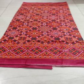 Cotton Red Chunari Print Chadar- (Large size)