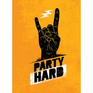 party hard Wall sticker paper poster |Sticker Paper Poster, 12x18 Inch