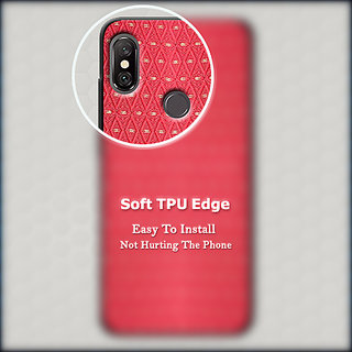 Cellmate Luxurious Checks Pattern Designer Soft Silicone Mobile Back Case  Cover For Oppo A83 - Red