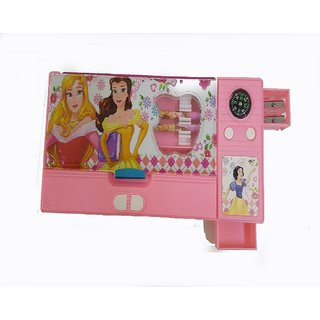 Katty mao pencil box with small car box inside for more  space and beautiful color for kids