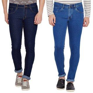 Stylox Men's Pack of 2  Slim Fit Multicolor Jeans