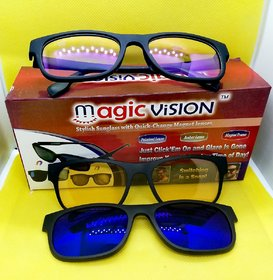 PRO-VISION 3 IN 1 MAGNETIC GLASSES POLARIZED GLASSES FOR DAY  NIGHT IN BEST PRICE