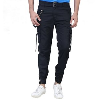 Lezendary Men Black Cargo