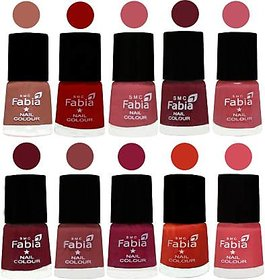 Fabia Nail PolishPremium Collection Pack of 10 Multicolor 14