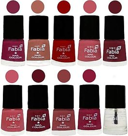 Fabia Nail PolishPremium Collection Pack of 10 Multicolor 17