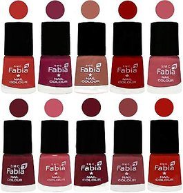 Fabia Nail PolishPremium Collection Pack of 10 Multicolor 20