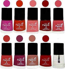 Fabia Nail PolishPremium Collection Pack of 10 Multicolor 22