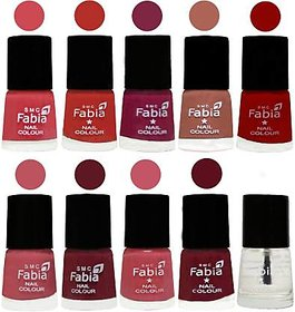 Fabia Nail PolishPremium Collection Pack of 10 Multicolor 23