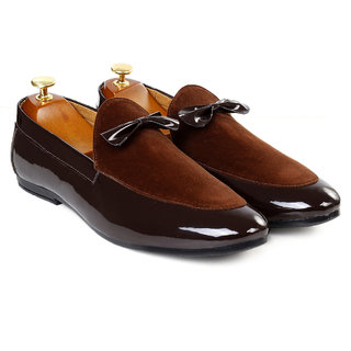 Bxxy Men's Brown Formal Pu Leather Loafer  Mocassins Shoe