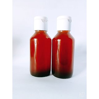 Ready homemade yellow bee hive oil 100ml(coconut oil + yellow bee hive + hibiscus leaves ) with diet chart or guidliness