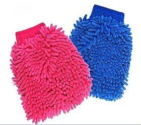 Traders Microfiber Gloves Set  Multicolor, 2 Piece