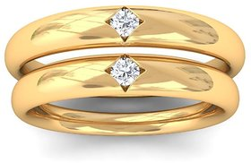 Couple Diamond Ring original  Natural american stone gold plated ring by Jaipur Gemstone