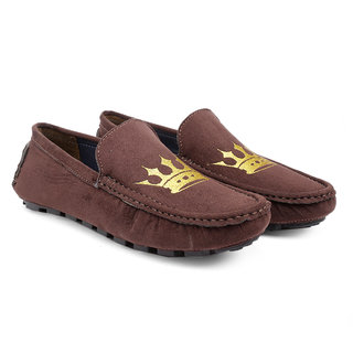 Bxxy Men's Brown Casual Faux Leather Driving and Loafers Shoes