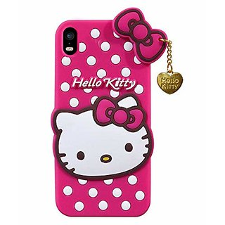 3D Cute Hello Kitty Back Case Cover for Oppo F1 Plus - Pink