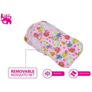 Kidify Super Comfort Baby Bedding Set With Detachable Net (Small 0-6 Months)