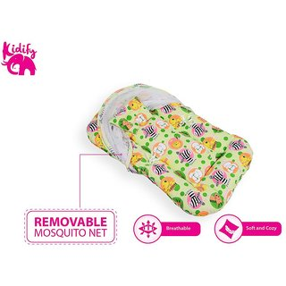 Kidify Super Comfort Baby Bedding Set With Bolster Pillows and Detachable Net (Large 6-12 Months)