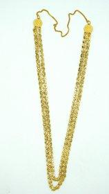 Two line Golden Pohe haar long Necklace