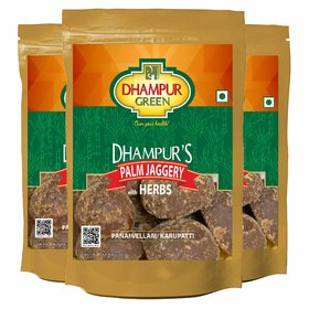 Dhampur Green Palm Jaggery with Herbs ( Pack of 3 )