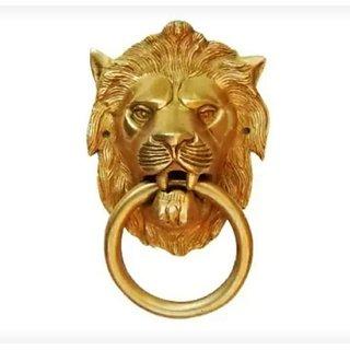 Metalcrafts Door knocker, brass, tiger shape, 10 cm