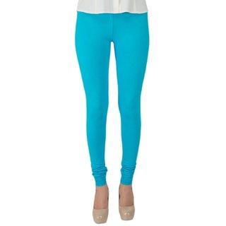 Aadikart Womens Sky Blue Cotton Leggings L