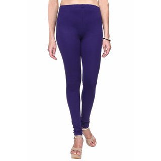 Aadikart Womens Royal Blue Cotton Leggings L