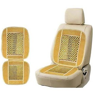 Car Wooden Bead Seat Cover/Back Rest Designed (1 Pcs - Beige)