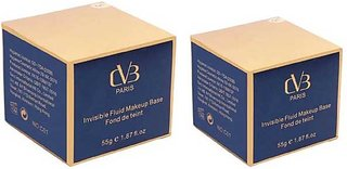 Cvb Fluid Invisible Makeup Foundation Pack Of 02