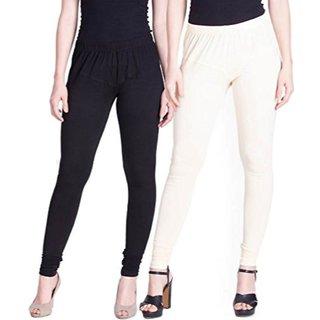 Aadikart Womens Black and White Cotton Leggings