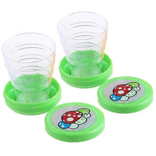 75 ml 2 Pieces Foldable Cups Folding Collapsible Glass - CP02