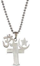 Men Style  Om Shanti Om Stainless Steel Pendant