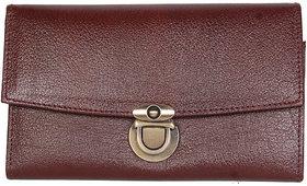 Genuine Brown Leather Ladies Wallets Lw0512br