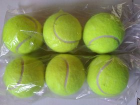 Kalindri Sports Heavy Cricket Tennis Ball Yellow - Pack of 6