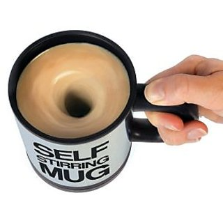 Self Stirring Mug with Lid for Coffee Tea Juices Shakes ButterMilk Tea Cup - SLF