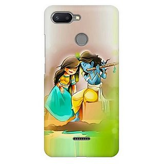 MobiWrapper Polycarbonate Matte Finish 3D Printed Hard Mobile Back Cover for Krishna Janmastami