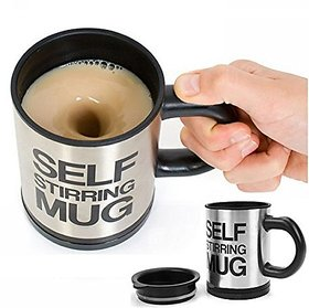 S4D Self Stirring Coffee Mug Dolphy Stainless Steel Automatic