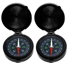 2 Pieces Mini Outdoor Camping Hiking Travel Compass - 28A