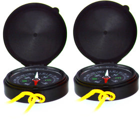 2 Pieces Mini Outdoor Camping Hiking Travel Compass - 28